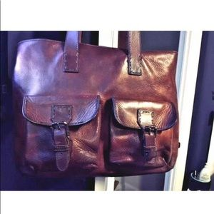 Cole Haan Distressed Leather Tote/Shopper